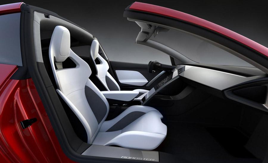 interieur roadster Tesla